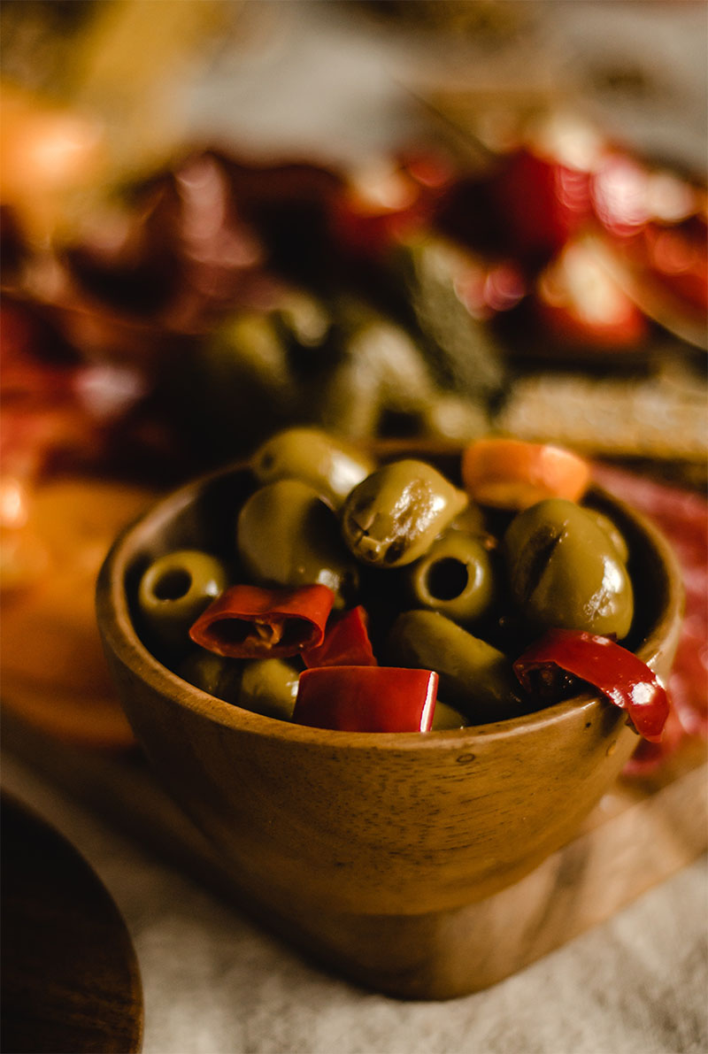 olive verdi ciotola